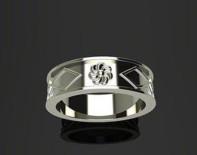 Armenian silver ring 3D printable model