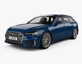 3D model Audi A6 S-Line avant with HQ interior 2018