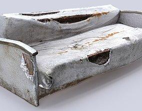 old sofa 3D model realtime
