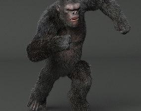 nature King Kong Maya Rig 3D model rigged