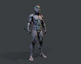 Cyber assassin 3D model