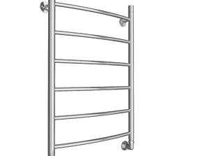 3D model towel rail metal