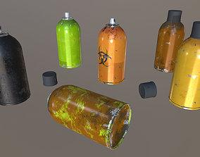 Aerosol spray cans 3D model