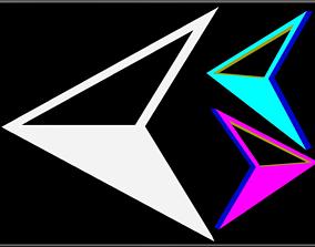 Triangle Arrow 3D asset