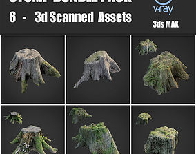 3D asset Stump bundle pack