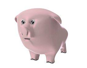 Pig toy 3D asset