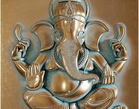 Ganesha Copper Patina 3D model