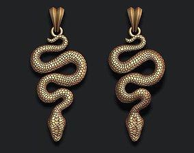 snake pendant 3D printable model poisonous
