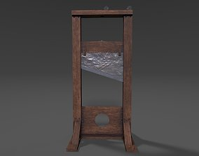 Guillotine 3D model low-poly