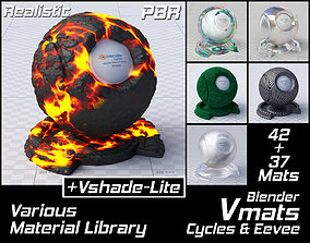 3D VMATS Various Material Library for Blender Cycles and