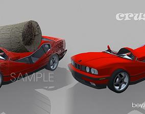 crushed car 3D