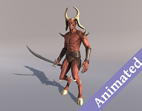 3D model animated Demon Soldier