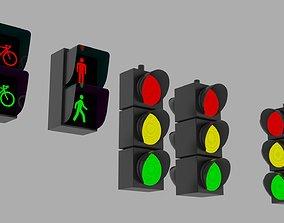 Traffic Lights 3D asset