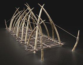 3D model Orc Orcish Rope Bridge Wooden Bone Construction 2