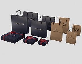 3D asset Ralph Lauren Gift Packaging Boxes and Paper Bags