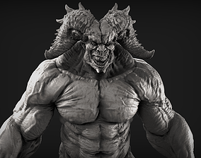 3D Demon 9 High Poly Sculpt