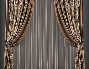 Curtain 3D model 148 realtime