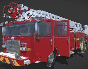 Firetruck Pierce 105 HEAVY-DUTY STEEL AERIAL 3D asset
