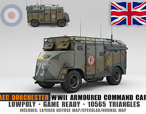 Low Poly AEC Dorchester Armoured Command Vehicle 3D asset