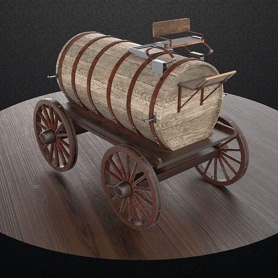 Wooden Oil Tanker