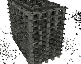 3D Destroyed town