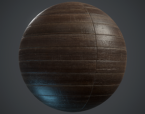 3D asset game-ready Old stackbond Parquet - PBR textures