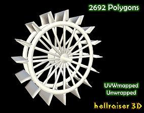 3D asset Water Wheel