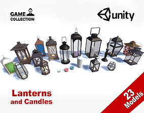 Lanterns and Candles 3D model