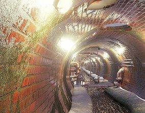 Sewer tunnel 3D asset