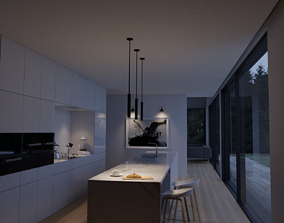 interior modern kitchen 3D model