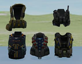 3D asset Bullet proof jacket