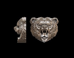 Angry bear pendant 3D print model