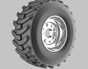 Offroad truck wheel 3D model part