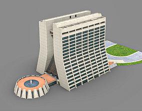 3D asset Wilson Hall Fermilab building