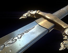 3D model VR / AR ready Khmer Ancient Sword
