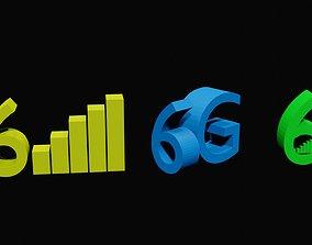 6g connection 3D asset