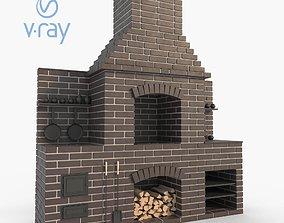 Brick bbq oven 3D