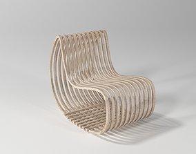 3D model furniture Parametric Simple Wood Chair