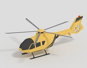 Low Poly Helicopter Game Ready 3D asset