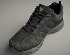 VR / AR ready Worn sneaker shoe low poly 3D model