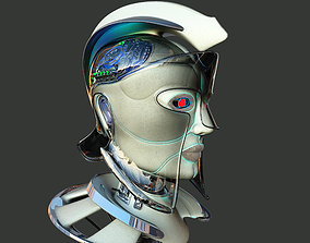 3D model Robotic spartan woman head
