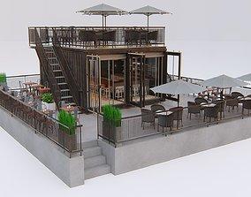 Container Restaurant 3D