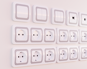 3D model switches and sockets samsung