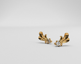 3D print model Thin baroque pattern earrings with