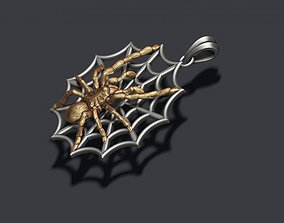 Spider pendant web 3D printable model