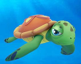Cartoon turtle 3D asset