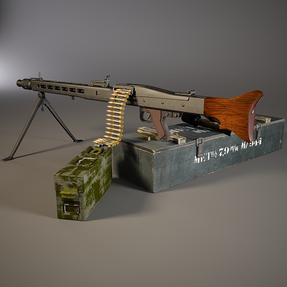 MG 42 WW2 German Machine Gun Set