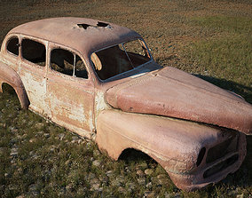 accident 3D model FREE HD PHOTOSCANNED RUSTING CAR