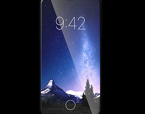 Apple iPhone X 2017 concept 3D