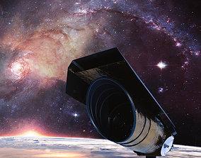 3D model VR / AR ready Space Telescope